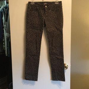 LOFT dot print black jeans
